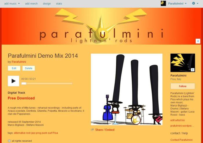 ParafulminiBandCampPage